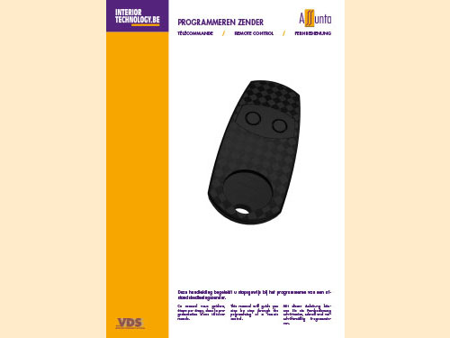 Manual for programming the remote control NL